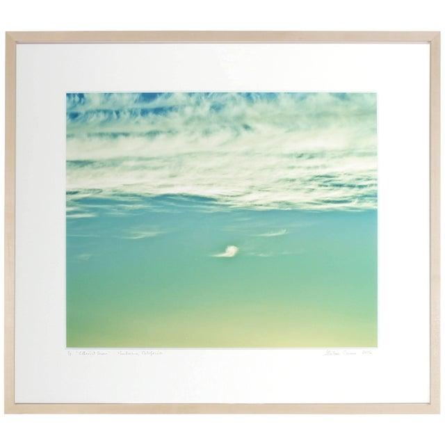 "Contemporary Gaétan Caron ""Ethereal Green"" Mendocino, Ca Clouds, Color Photograph, 2016 2016 For Sale - Image 3 of 5"