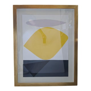 Bold Organic Shaped Abstract Print, Mid-Century For Sale