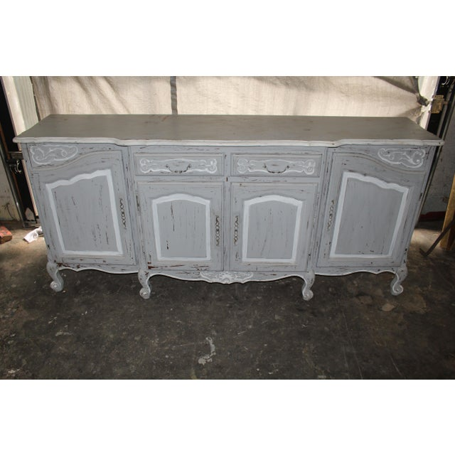 French 19th Century French Gray Sideboard For Sale - Image 3 of 7