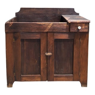 Early Antique Dry Sink For Sale