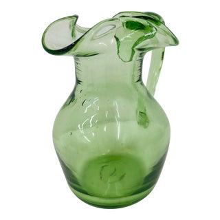 Handblown Art Glass Pitcher Vase For Sale
