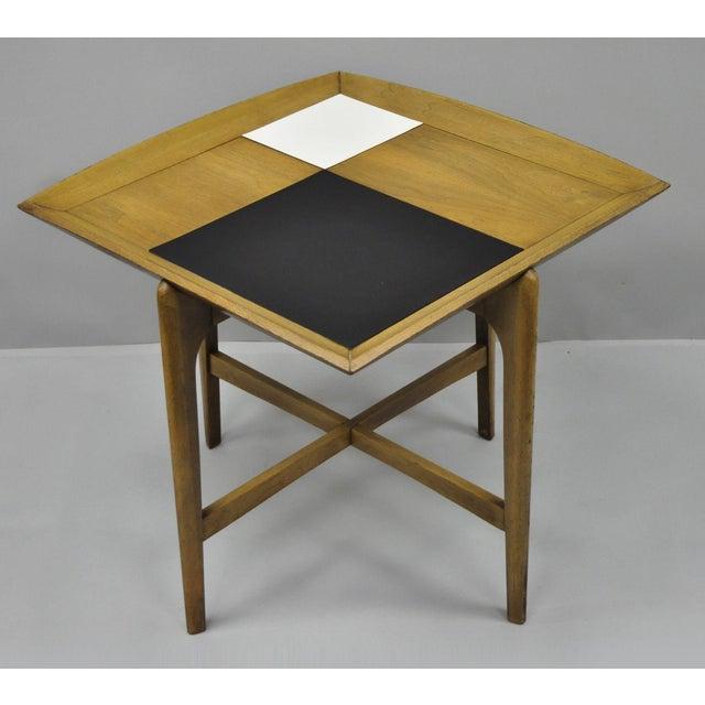 John Keal Brown Saltman Mid-Century Danish Modern Sculptural Walnut Side Table For Sale - Image 12 of 12