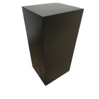 "41"" Tall Modernist Black Monolith Fiberglass Pedestal For Sale"