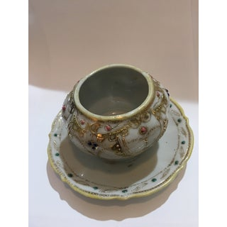 Hand Painted Ornate Nippon Lidded Condiment Dish Preview