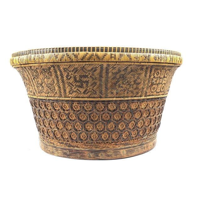Chinese Antique Large Woven Empress Basket For Sale - Image 13 of 13