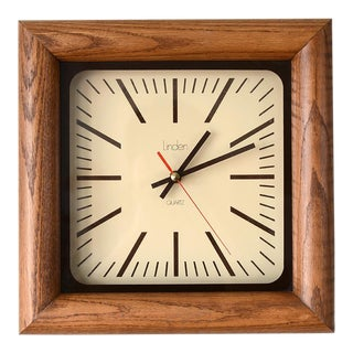 Danish Modern Arthur Umanoff Style Bullnose Oak Clock For Sale