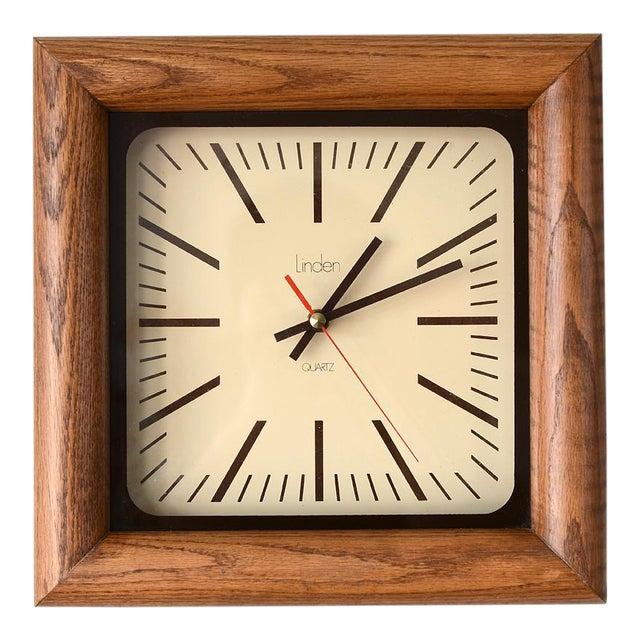 Danish Modern Arthur Umanoff Style Bullnose Oak Clock For Sale