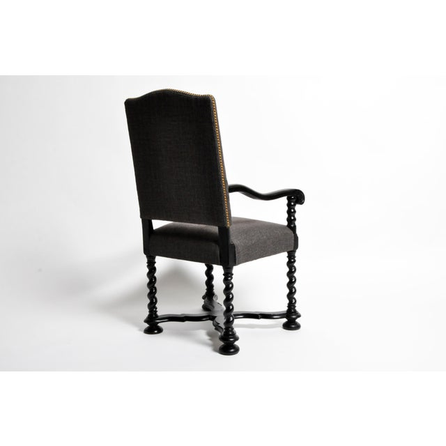 Louis XIII Style Carved Armchair For Sale - Image 4 of 13