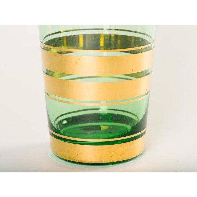 Art Deco Mid-Century Modern Blown Glass Vase With 24-Karat Gold Details For Sale - Image 3 of 6