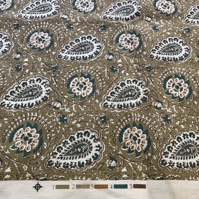 "Contemporary Jasper ""Agra"" Fabric- 1 1/4 Yards For Sale - Image 3 of 6"