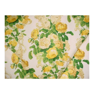 Gp & J Baker Rossetti Country English Print Upholstery Fabric - 21 Yards For Sale