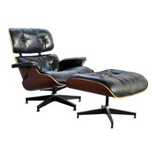 Herman Miller Eames Lounge Chair & Ottoman - A Pair