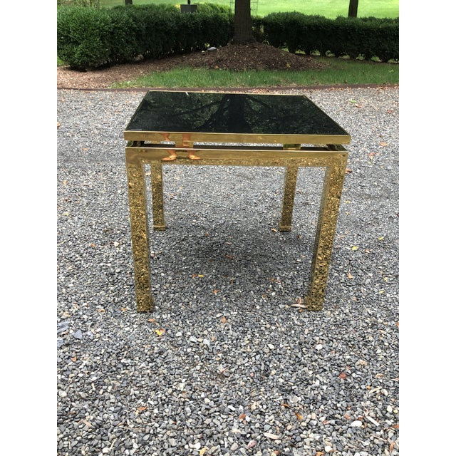 1970s French Maison Jansen Brass Occasional Table For Sale - Image 9 of 12