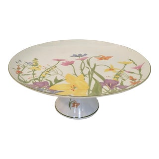 Japanese Porcelain Cake Stand by Mann 1976