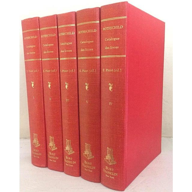 """1960's Vintage """"Catalogue Des Livres Composant La Bibliothèque De Feu M. Le Baron James De Rothschild"""" Volume Set- 5 Books For Sale - Image 4 of 4"""