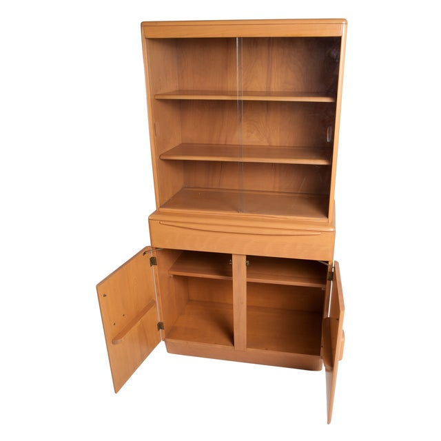 Heywood Wakefield Solid Maple Display Hutch - Image 3 of 4