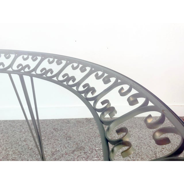 1960s Mid-Century Modern Arthur Umanoff Grenada Wrought Iron Outdoor Dining Table For Sale In Miami - Image 6 of 13