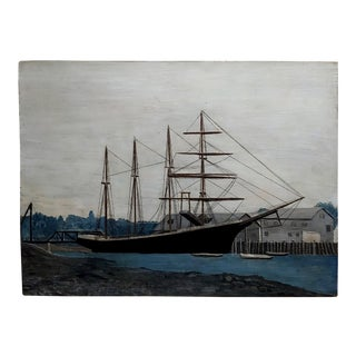 Lloyd Thomas -Reine Marie Stewart- 1919 Ship - Oil Painting For Sale
