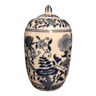 Formalities by Baum Byro Blue & White Ginger Jar