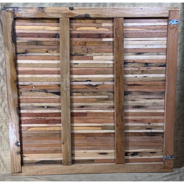 Abstract Reclaimed Wood Wall Sculpture For Sale - Image 11 of 13