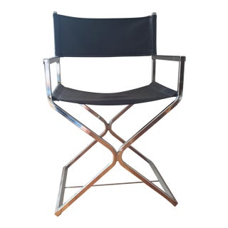 Mid-Century Chrome Directors Chair