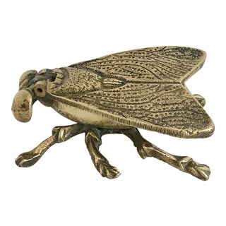 Mid-Century Brass Fly Ashtray For Sale