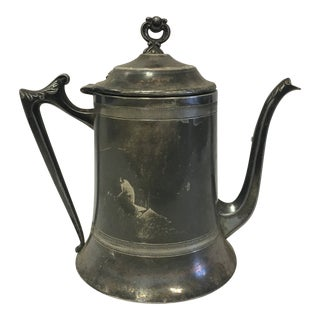 Antique Silver Plated Teapot For Sale