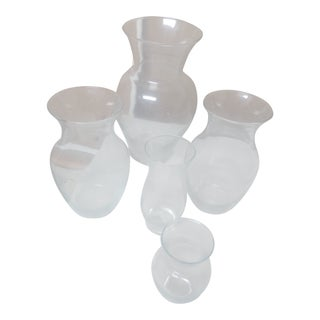 Indiana Glass Assortment Vases- 5 Pc