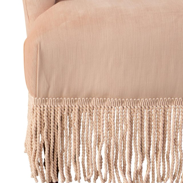 Fringe Chair in Titan Pink Champagne For Sale In Chicago - Image 6 of 8
