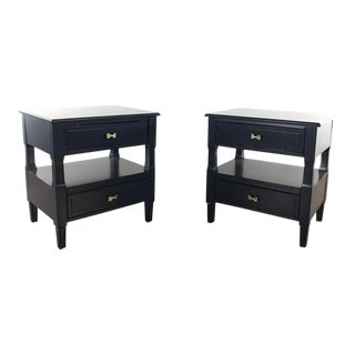 Contemporary Safavieh Blue Side Tables - a Pair For Sale