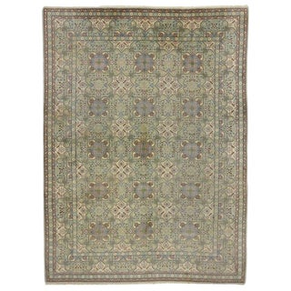 Vintage Persian Isfahan Wool Rug - 8′7″ × 9′ For Sale