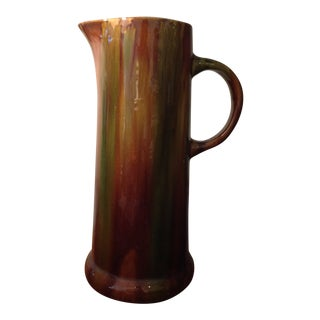 Aesthetic Tall Drip Glazed Pitcher For Sale