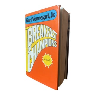 Rare First Edition Hardcover Breakfast of Champions by Kurt Vonnegut, Jr. 1973 Edition Book For Sale