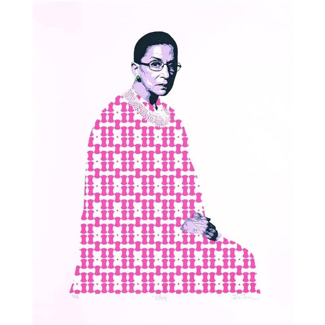 """RBG"" Limited Edition Screen Print For Sale"
