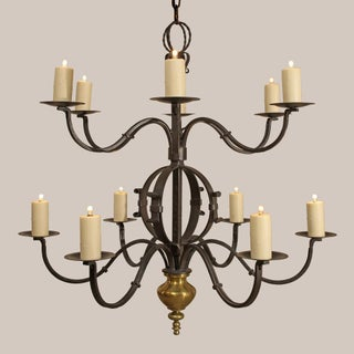 "Paul Ferrante 12 Light Wrought Iron Chandelier- ""The Tuscany"" Preview"