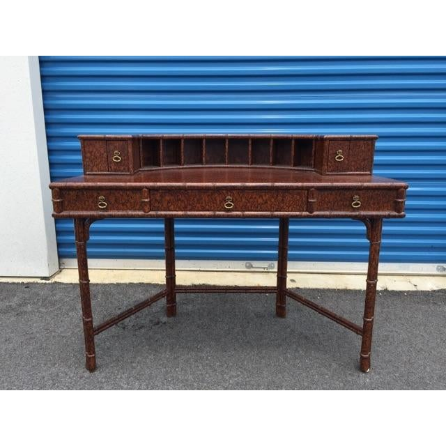 Ficks Reed Demilune Writing Desk - Image 2 of 8