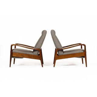 1960s Danish Modern Reclining Lounge Chairs - a Pair Preview
