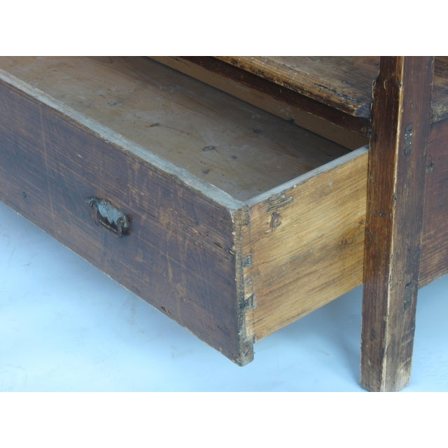 Wood Antique Swedish Bench For Sale - Image 7 of 10