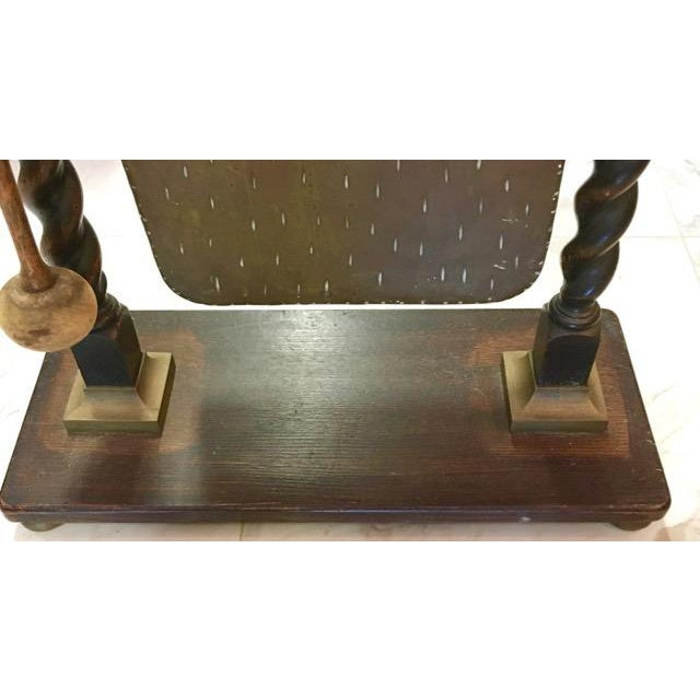 Victorian Chinese Bronze and English Oak Dinner Gong For Sale - Image 9 of 11