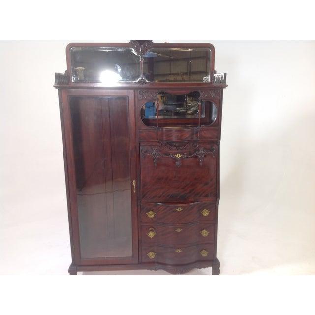 Antique Mahogany Victorian Curio/Desk - Image 3 of 9