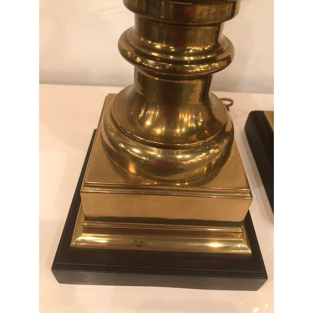 Vintage Brass Urn Table Lamps - a Pair For Sale - Image 9 of 11