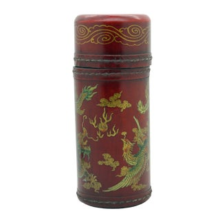 Ancient Asian Lottery Poetry - Fortune Telling Stick With Dragon & Phoenix Painting (Mid) For Sale