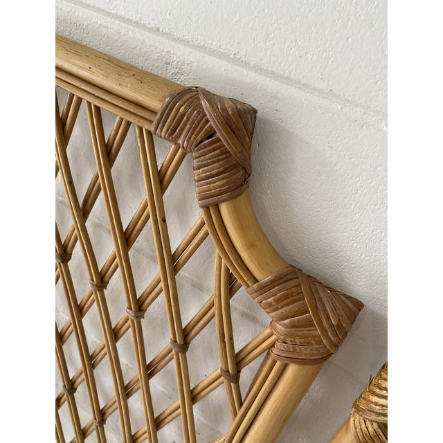 Vintage Rattan Headboards- a Pair For Sale In Tampa - Image 6 of 13