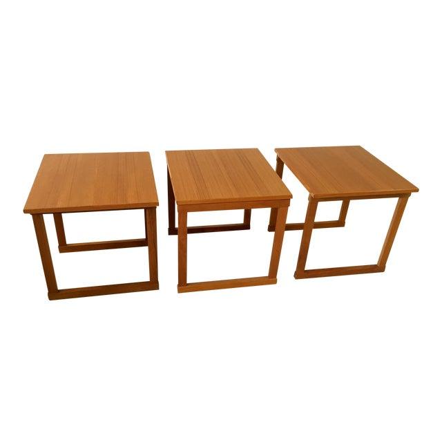 Kai Kristiansen Teak Nesting Tables - Set of 3 For Sale
