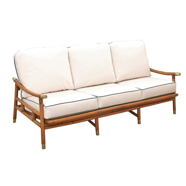 1950s Vintage John Wisner for Ficks Reed Sofa For Sale - Image 10 of 10