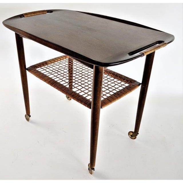 1960s Vintage Paoul Jensin for Selig Danish Modern Bar Cart For Sale - Image 13 of 13