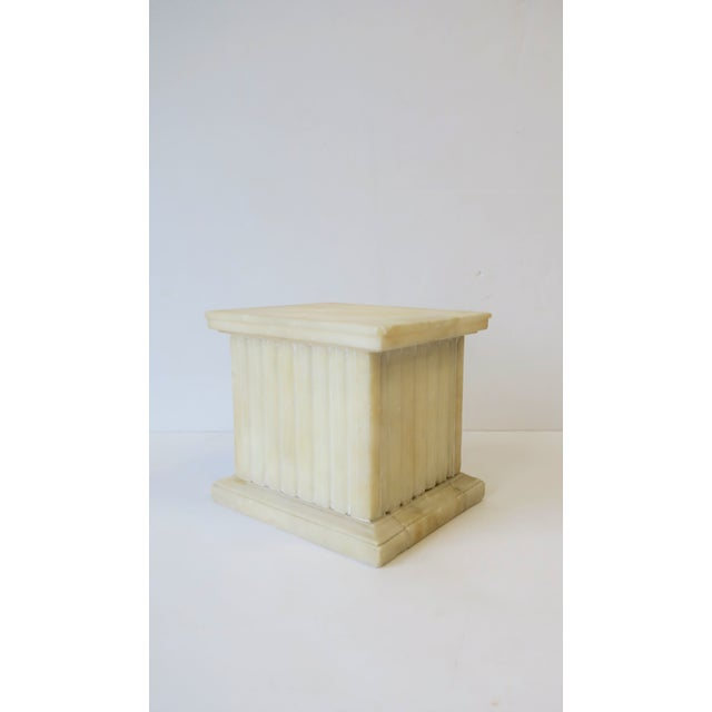 Italian Alabaster Marble Column Pedestal For Sale - Image 13 of 13
