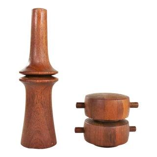 Scandinavian Modern Teak Pepper Mills by Jens Quistgaard for Dansk Designs For Sale