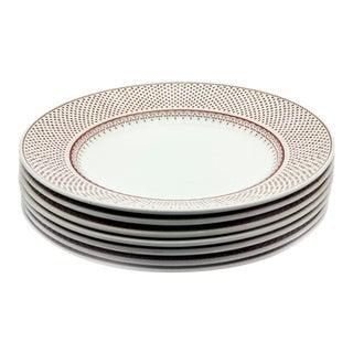 Vintage Franciscan Ironstone Dotted Rimmed Plates- Set of 6 For Sale