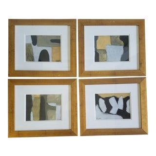 Beth Downey Abstract Paintings - Set of 4 For Sale